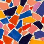 Colorful glazed tile — Stock Photo