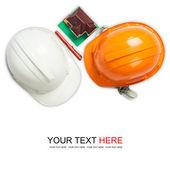White and orange helmet — Stock Photo
