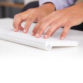 Hand typing — Stock Photo