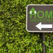Home sign — Stock Photo #44288979