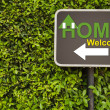 Home sign — Stock Photo #44289109