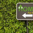 Home sign — Stock Photo #44289149