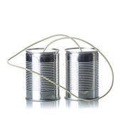 锡罐电话 — 图库照片