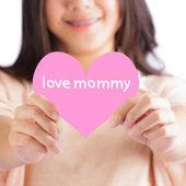Corazón de color rosa — Foto de Stock