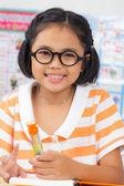 Little student girl  — Stock Photo
