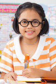 маленькая девочка студент — Стоковое фото