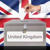 Рука с голосованием и металла — Стоковое фото