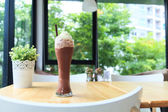Iced chocolate smoothie — 图库照片
