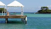 岛 levantado 岛上的码头 — 图库照片