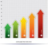 Business graph .vector growth progress color full arrow. — Stock Vector