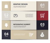 Vector paper e commerce and numbers design template . Vector illustration. Infographics Options. — Stock Vector