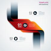Vektör iş adım kağıt veri ve sayıların tasarım şablonu — Stok Vektör