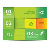 矢量纸生态要素与数字设计模板。矢量图。图表选项 — 图库矢量图片