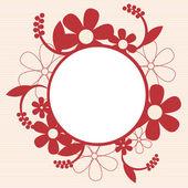 Vintage tarjeta con diseño de ornamento floral — Vector de stock