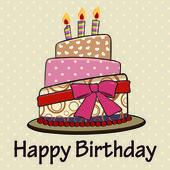 Happy birthday card. — Stock Vector