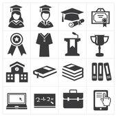 Educação de ícone — Vetor de Stock