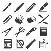 Icon stationary education — Stock Vector