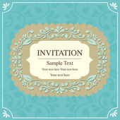 Tarjeta de invitación — Vector de stock
