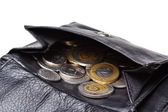 Money in leather wallet — Stock Photo