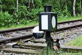 Ferrovia interruttore di cambiamento — Foto Stock