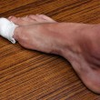 Stockfoto: Bandaged toe