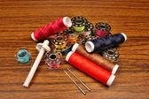 Thread a sewing machine — Stock Photo
