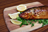 Fish smoked whitefish — Stock Photo
