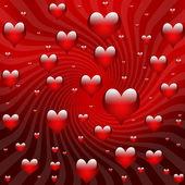 Valentine background hearts — Stock Photo