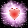 Stock Photo: Valentine heart background