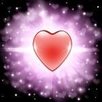 Valentine heart background — Stock Photo