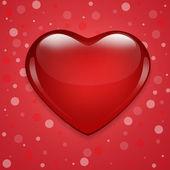 バレンタイン ハート背景赤 — ストック写真