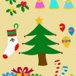 Set Christmas figures — Stock Vector