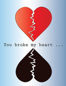 You broke my heart — Stock Vector