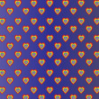 Colored hearts in dark blue gradient background. — Stock Photo