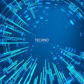 Techno 3 — Stock Vector