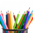 Pencils isolated on a white backgrounds  — Stock Photo