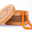 Stock Photo: Birchbark box with chaplet