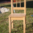 ストック写真: Wooden chair close up