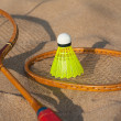 Facilities for badminton close up — Stock Photo