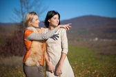 Beautiful young women outdoors — Stock Photo