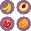 Fruit icon set 1 — Stock Vector