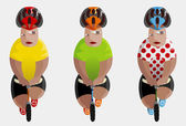 Tour de France winners — Vector de stock