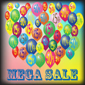Mega Sale — Stock Vector