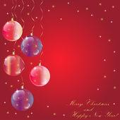 Merry Christmas spheres vector — Stock Vector