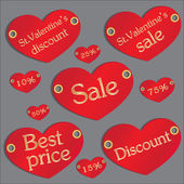 Valentine's discount — Stock Vector
