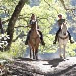 Horseback riders on the trail — Stock Photo #26211689