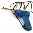 Stock Photo: Blue old soldering iron