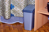 Grey container on garbage — Foto de Stock