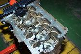 Engine of diesel standing — Stock Photo