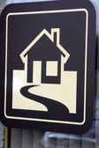 House with  way as diagram — Stock Photo